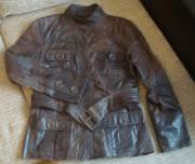 Куртка-пиджак Zara,  кожаная,  р.44-46